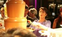 Finally my turn at the chocolate fountain, says one guest at a recent Melbourne celebration.