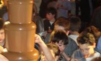 A chocolate fountain is for all ages and for all occasions.