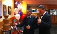 The chocolate fountain buffet gets the thumbs up at this Melbourne 21st birthday party...