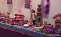 The Nalpantidis's provided their guests with a diddleley scrumptious chocolate fountain desert buffet at their 21st birthday party.