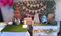 A chocolate fountain will compliment any setting.
