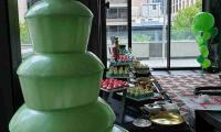 The green flowing chocolate in the fountain suited the Shrek theme event perfectly.