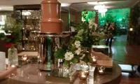 A large chocolate fountain suits the set up at a function held at Myer Melbourne.