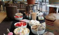 Birthdays are more fun when a chocolate fountain is added to the event.