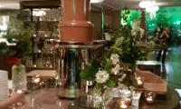 Our large chocolate fountain will fit in with any stylish set up.