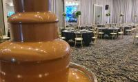 Our chocolate fountain won't be alone for long once the function starts.