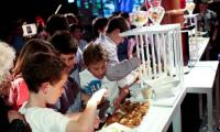The chocolate fountain desert bar is a winner at a recent children's event in Melbourne.