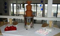Dina's hired chocolate fountain was a surprise for her party in Melbourne.