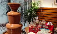 A chocolate fountain to spoil the guests at Australian Unity's Christmas party.