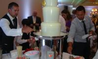 Rebecca & Michael won their guests over with a white chocolate fountain at their Manor On High Melbourne wedding.